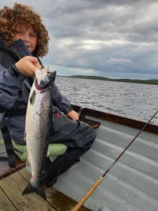 Leo Reuland with his second salmon